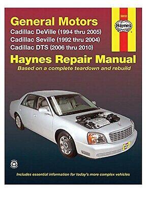 SHOP MANUAL CADILLAC SERVICE REPAIR HAYNES BOOK CHILTON DEVILLE DTS SEVILLE STS