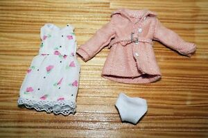 One piece dress for 1/12 Doll and Figure (Doll Cloth)