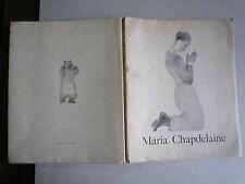 1927 MARIA CHAPDELAINE DE L HEMON LITHOS ORIGINALES ALEXEIEFF CHEZ POLYGONE PARI