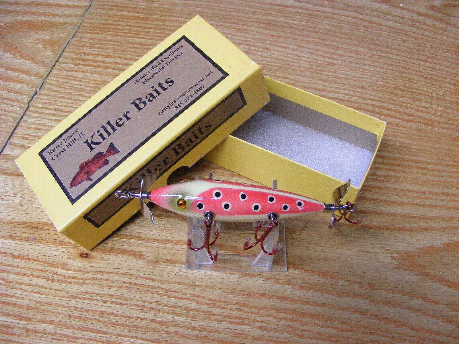 Killer Baits Rusty Jessee Heddon Little Sac Style Glasseye 150 in Red Ladybug