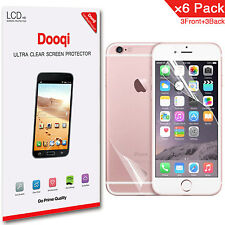 """6X Dooqi Front + Back Anti Glare Matte Screen Protector For Apple iPhone 7 4.7"""""""