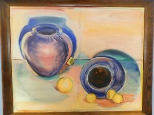 LRG 1960'S ORIG. STILL LIFE OIL PAINTING SOUTH WEST, NEW MEXICO FEEL  24 X 30
