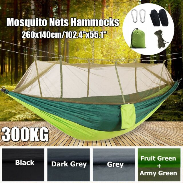 660lbs Double Mosquito Net Outdoor Hammock Tent Camping Hanging Bed Swing US