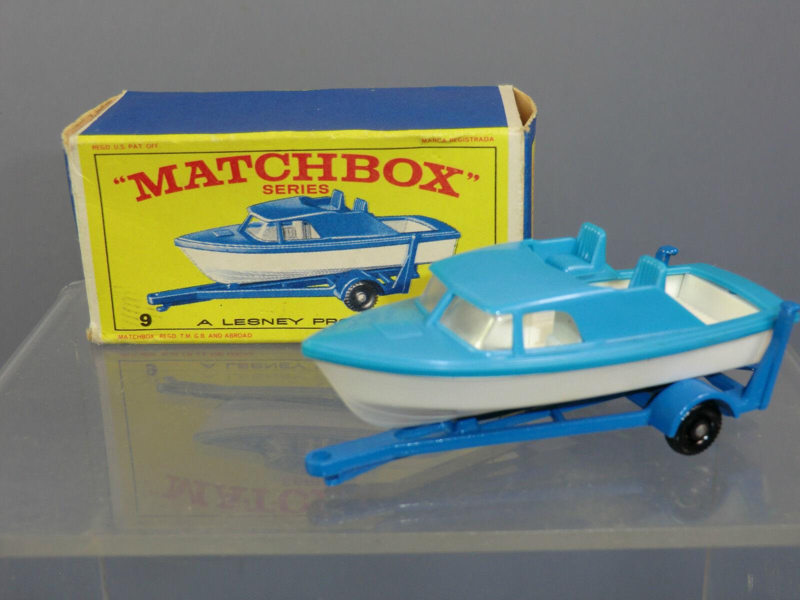 Matchbox Lesney Modelo No.9d cabina Cruiser & Remolque MIB