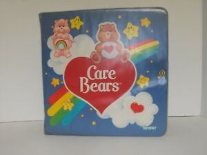 Poseable-and-Miniature-Storybook-Carrying-Case-Vintage-Care-Bear-Toy-Kenner-1983
