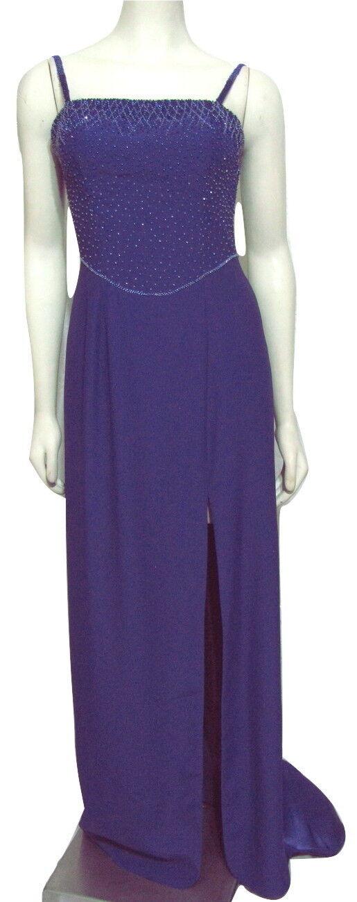 NWT CIRE LANDA Beaded lila Prom Dress 8 Long Formal Gown kvinnor M  398