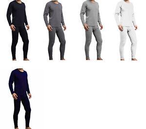 Mens-Winter-Ultra-Soft-Fleece-Lined-Thermal-Top-amp-Bottom-Long-John-Underwear-Set
