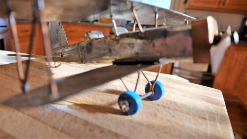 Airplane Handmade Metal Airplane Folk Art Decorative OOAK Handcrafted Aviation