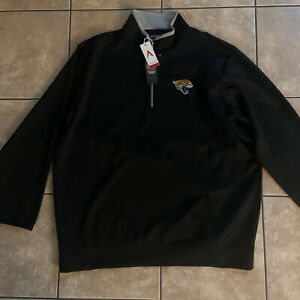 NWT-Antigua-Golf-NFL-Jacksonville-Jaguars-Zip-Front-Pullover-Jacket-3XL