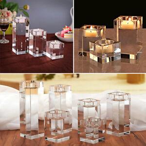 Crystal Tea Light Glass Candle Holder Wedding Christmas Table