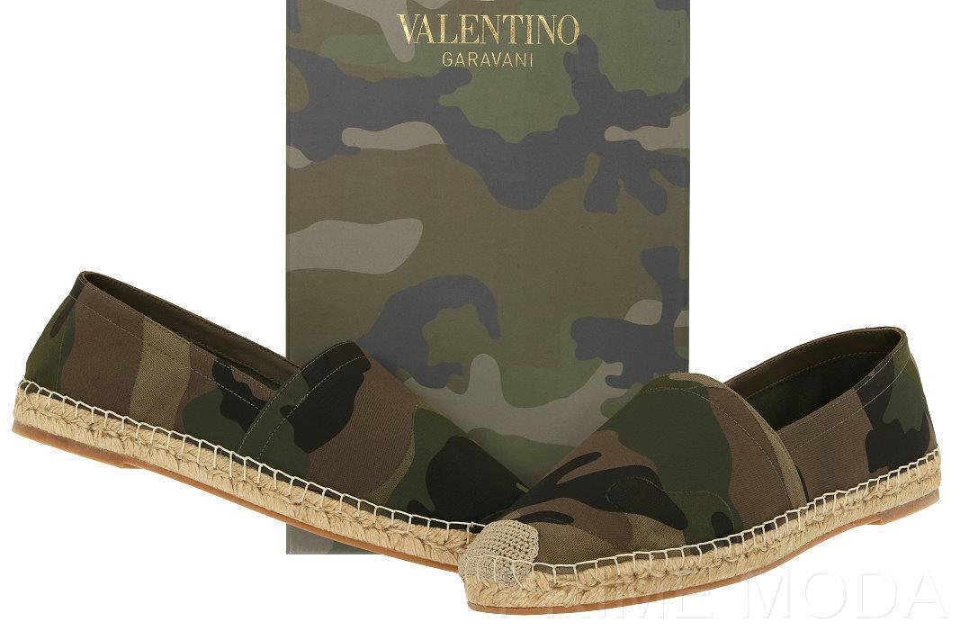 NEW NEW NEW VALENTINO GARAVANI MEN'S CAMO CANVAS ESPADRILLES SLIP ON SHOES 41 US 8 2b9ae4