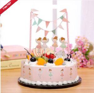 Miraculous Ballet Ballerina Dancing Birthday Cake Set Cupcake Toppers Bunting Personalised Birthday Cards Cominlily Jamesorg