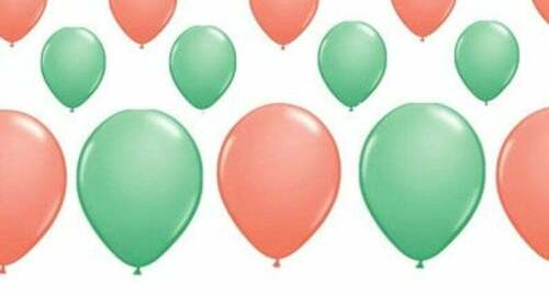 birthday balloons coral and mint Coral and mint latex balloons party balloons