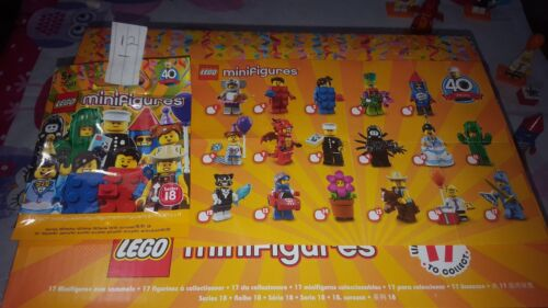 choose your mascot NEW Lego series 18 minifigures 40th Party figures-71021