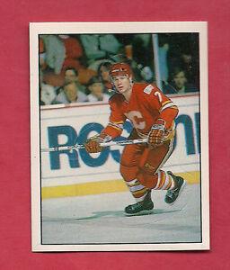 RARE-1987-FLAMES-384-JOE-MULLEN-ACTION-STICKER-CARD