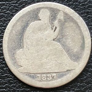1837 Seated Liberty Dime 10c Mid Grade  #31150