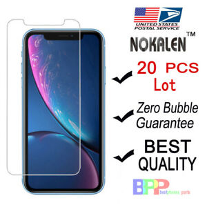 NOKALEN-20X-Wholesale-Lot-Apple-iPhone-XR-6-1-034-Tempered-Glass-Screen-Protector