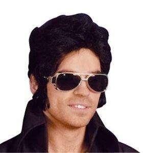 Novedad De Disfraz Jarras Estilo Elvis Gafas Fiesta Plata Tonos AL5j4R
