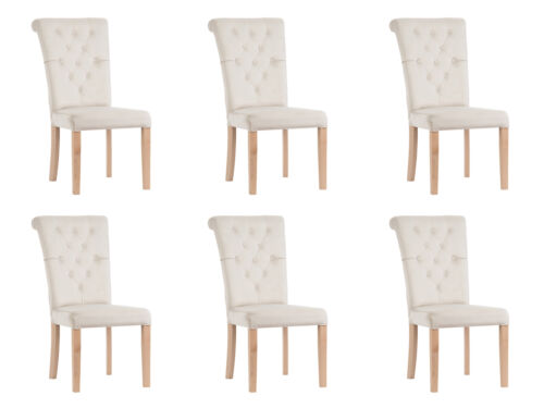 6x Design Upholstered Seat Chairs Chair Set Furniture Chair Lounge Club Set Lehn
