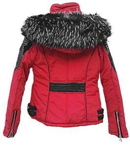 Détails sur Manteau Doudoune courte Femme à Capuche fourrure veste d'hiver S XXL XQ 026