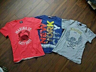 *** H&m *** 3 Ragazzi T-shirts-shirt Assortimento-tg. 164-rosso-blu-grigio **-mostra Il Titolo Originale Essere Romanzo Nel Design