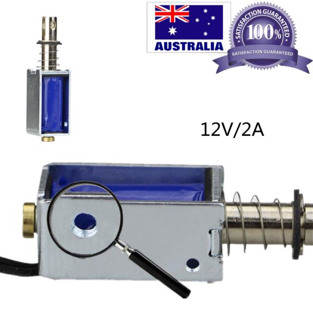 JF-0826B 12V//2A Reset 10mm Push Pull Type Open Frame Solenoid Electromagnet Tool