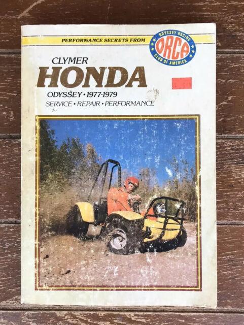 Honda Odyssey 250 Fl Fl250 Used Clymer Service Manual 1977