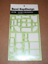 R-719 Kitchen Detailer VTG USA Drafting Stencil Berol Rapidesign Template