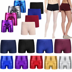 Girls-Dance-Sport-Shorts-Gymnastics-Ballet-Bottoms-Dancewear-Yoga-Fitness-Wear