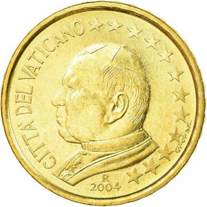 [#729870] Cité du Vatican, 10 Euro Cent, 2004, SPL, Laiton, KM:344