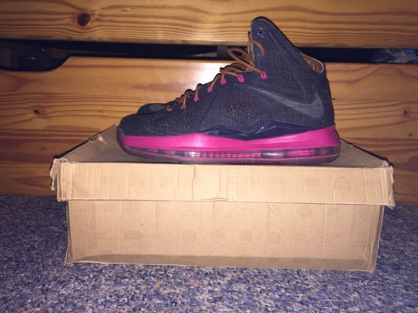Nike LeBron 10 X EXT QS Denim size 8