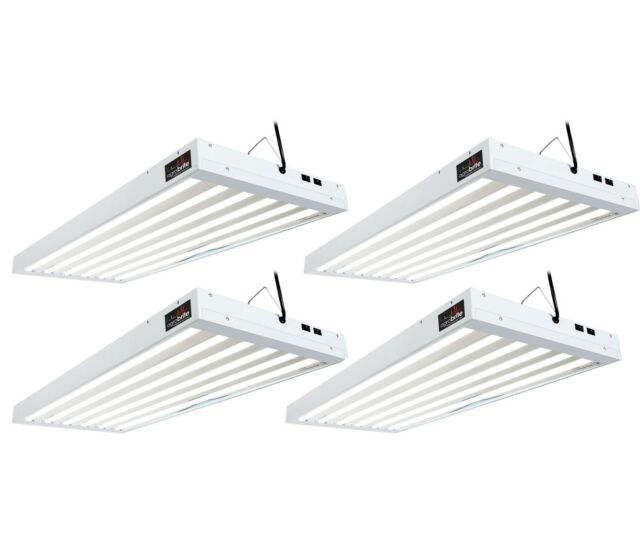 4 Agrobrite T5 324w 6 Grow Light Fixtures W