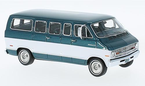 Dodge Deporteman 1973 metalizado verde blanco 1 43 Model neo scale models
