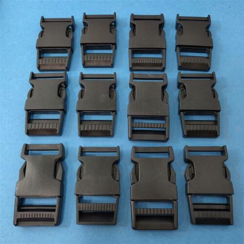 """SET of 12 Snap Side Release Buckles 1/"""" Webbing Repair Military Backpack luggage"""