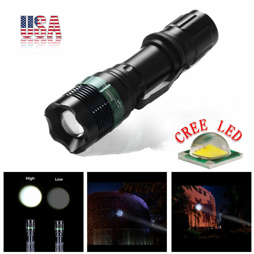 Imperméable 6000 LM Zoom T6 LED torche 2PCS+2PCS 3.7v 18650 EH