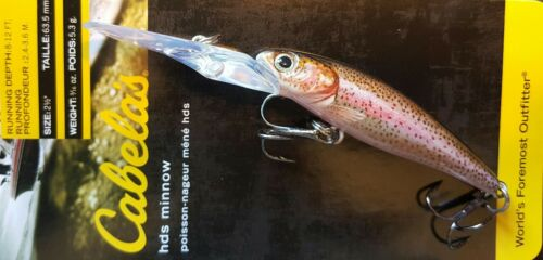 """3 Pack of RealImage Minnow Lure 2.5/"""" Rainbow Trout CABELA/'S LIFETIME WARRANTY"""