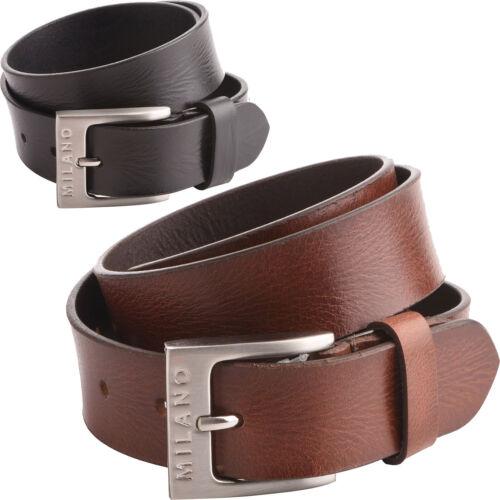 "Full Grain Real Genuine Leather Belt Milano Mens 1.5/"" 45mm"