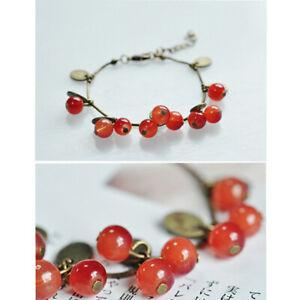 Charm-Boho-Cherry-Bracelet-Anklet-Chain-Beach-Sandal-Jewelry-For-Women-Girls