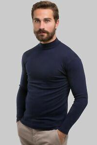 T-Shirt-Maglia-Lupetto-Intima-Uomo-Girocollo-Caldo-Cotone-Termica
