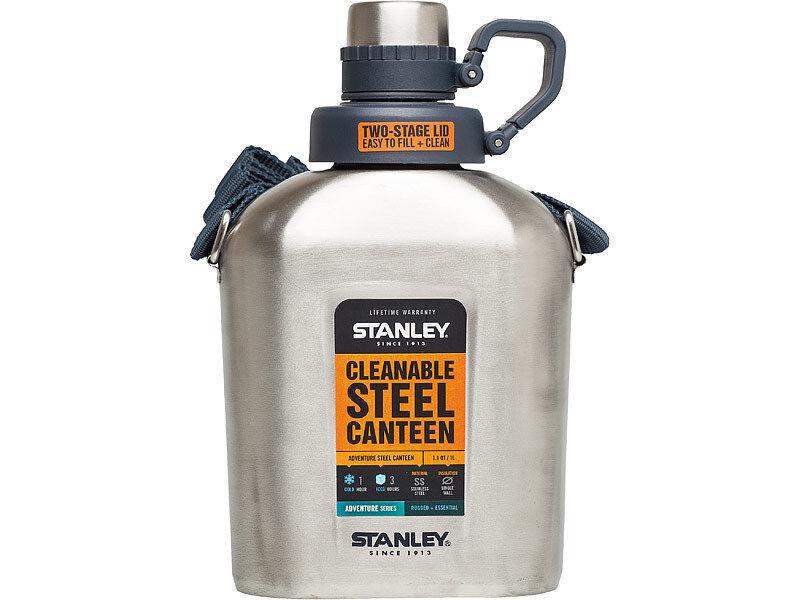 Stanley Feldflasche Feldflasche Feldflasche Adventure Steel Canteen 1 Liter 62196c