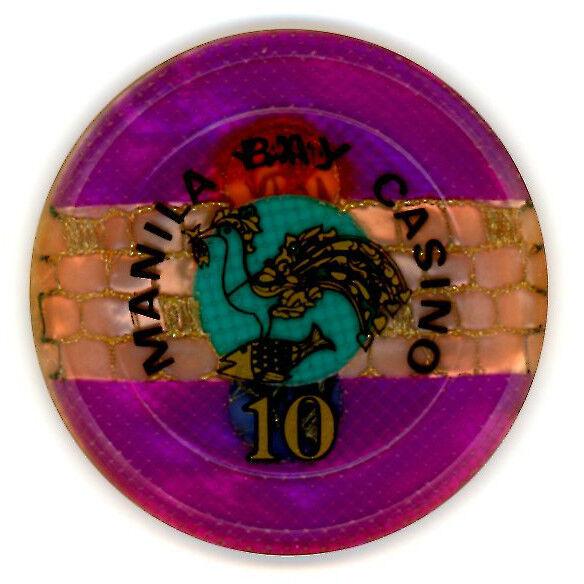 100 Peso CIRCA 1980/'s MANILA BAY CASINO CHIP.
