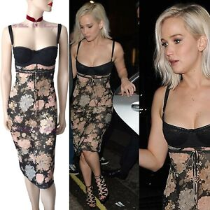DOLCE-amp-GABBANA-vtg-1996-floral-Jennifer-Lawrence-DRESS-size-UK-10-US-6-42-DG