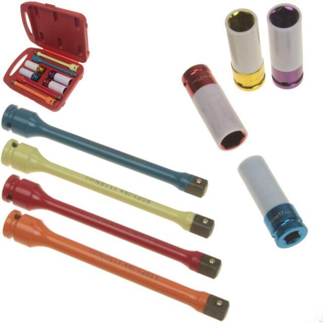 Lug Nut Torque Stick Extension Bar Thin Wall Impact Socket Auto Mag Wheel Tork