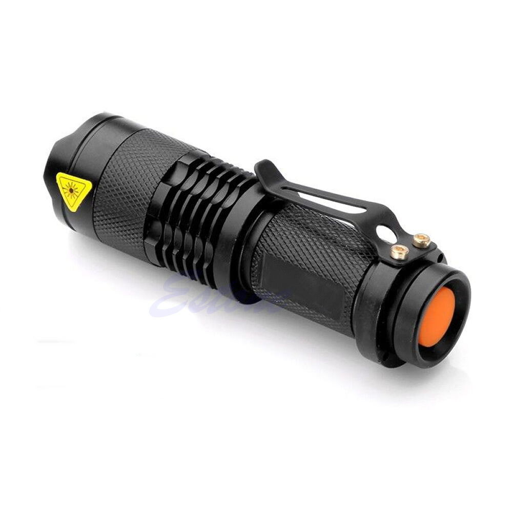 Red LED Flashlight Zoomable Focus Torch Stars Aviation Astronomy Red Light Lamp 7