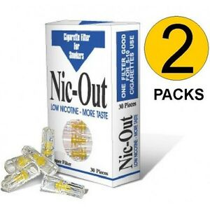 2-Packs-Nic-Out-Cigarette-Filters-Quit-Smoking-Alternative-60-filters