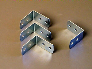 Four Penn Elcom Medium Corner Braces W/Screws - Zinc Finish 1220