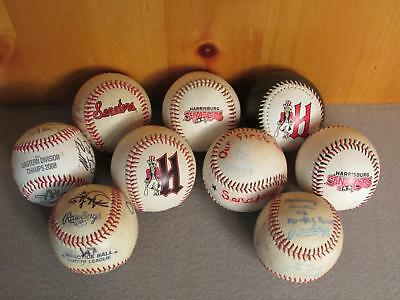 Sport Fanartikel Vintage Group Of 9 Harrisburg Senators Minor League Baseballs Unterzeichnet Rohstoffe Sind Ohne EinschräNkung VerfüGbar