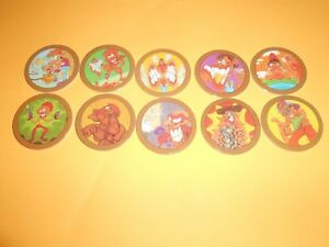 187 Pogs Pog Caps Milkcaps Flippo : Lot De 10 Hoppies