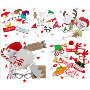 Navidad-Photo-Booth-Elfie-SELFIE-FOTO-Disfraces-Accesorios-amp-Marco-Navidad-Fiesta-Juego