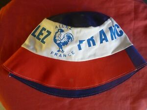ancien-bob-FOOTBALL-ALLEZ-FRANCE-FOOT-etat-neuf-avec-quelques-taches-COTON